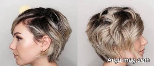 مدل شینیون موی خیلی کوتاه
