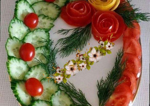 تزیین سالاد با گوجه گیلاسی