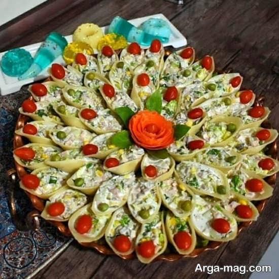 تزئینات شیک سالاد ماکارونی
