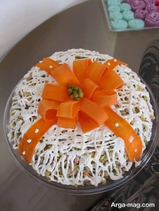 تزئینات انواع سالاد ماکارونی