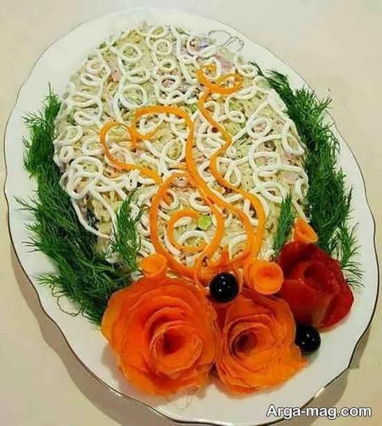 تزئینات زیبا برای سالاد ماکارونی