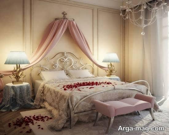 تزئینات زیبای اتاق خواب عروس