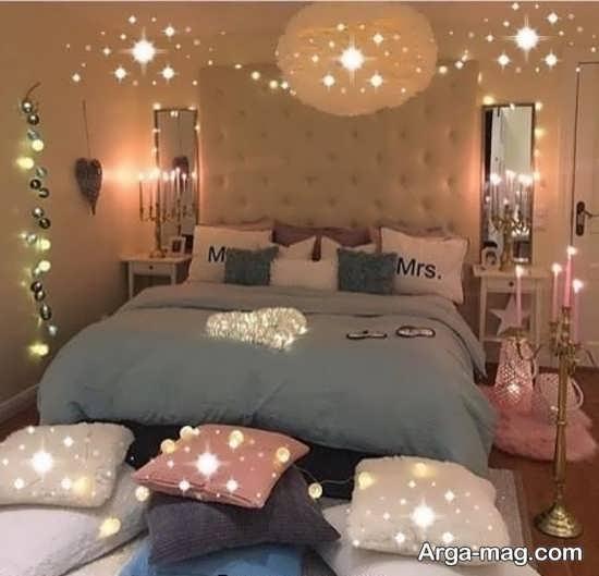 زیباترین تزئین اتاق خواب عروس