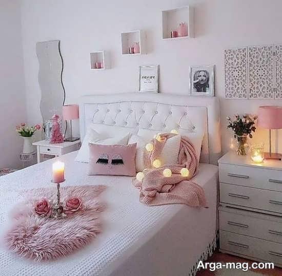 دیزاین جذاب اتاق خواب عروس