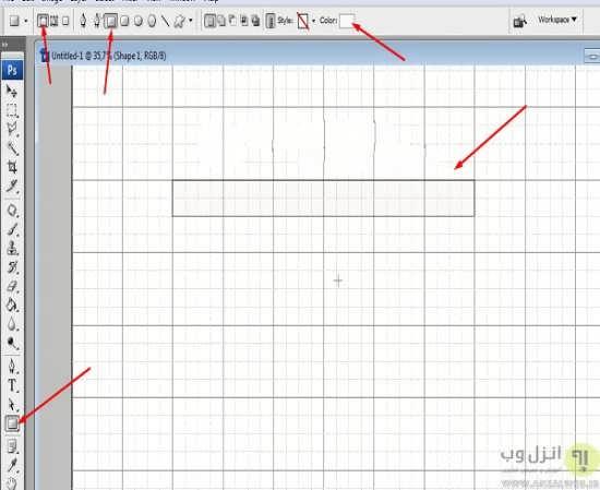 کشیدن ساده جدول در فتوشاپ