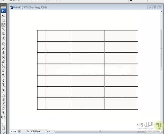 کشیدن و طراحی جدول در فتوشاپ