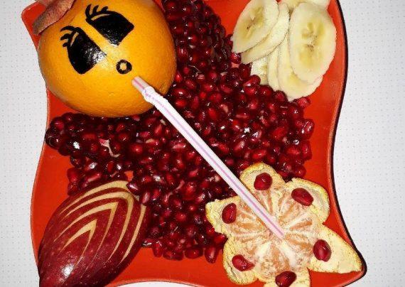 انواع تزیین میوه به شکلی زیبا و دوست داشتنی برای مدرسه