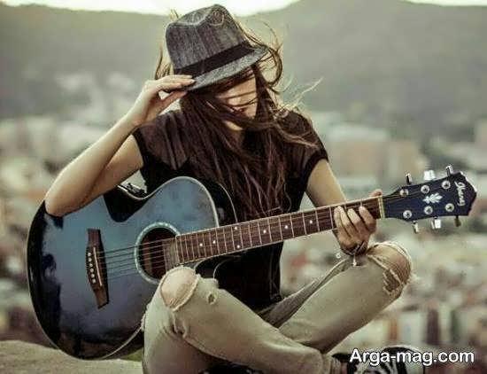 کلکسیون ژست تصویر پروفایل با گیتار