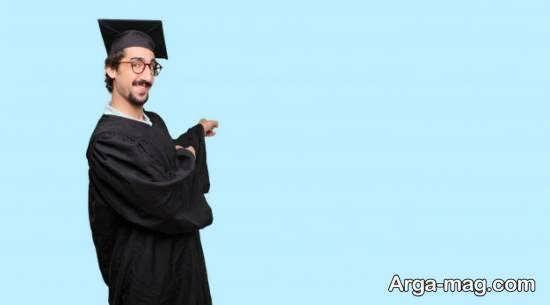 نمونه های جذاب و شیک ژست عکس فارغ التحصیلی پسرانه با شنل و کلاه