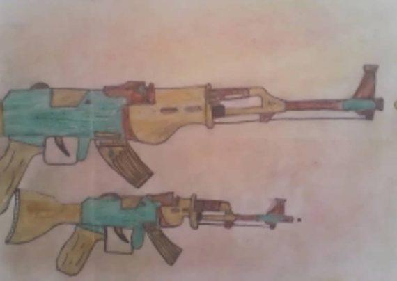 نقاشی تفنگ