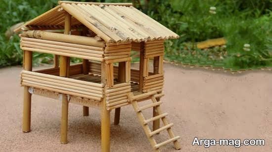 دیزاین کاردستی با سیخ چوبی