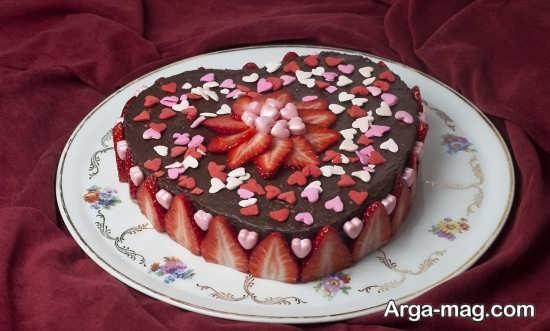 دیزاین زیبا و خاص کیک قلبی