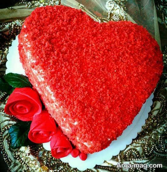 تزیینجالب و جذاب کیک قلبی