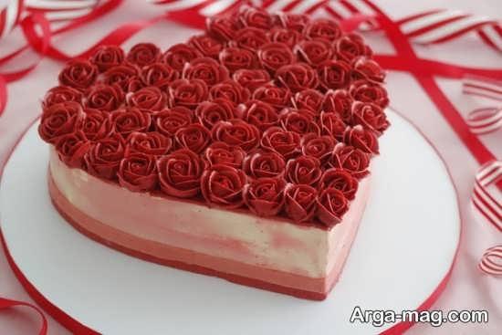 تزیین متفاوت کیک قلبی
