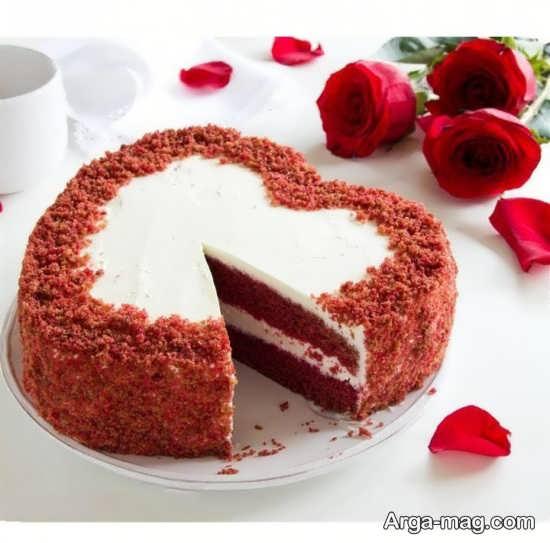 تزیین جدید کیک قلبی