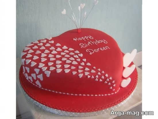 دیزاین خاص و جالب کیک قلبی