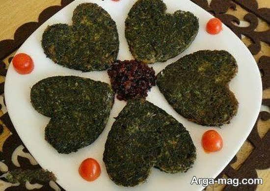 تزئین زیبای غذا به شکل قلب