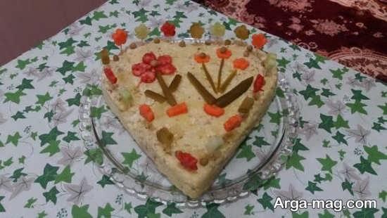 تزئین عاشقانه غذا به شکل قلب