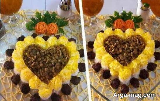 تزئین غذا به شکل قلب
