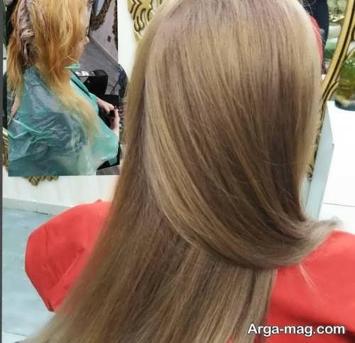 رنگ مو عسلی نسکافه ای روشن