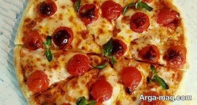 آموزش مراحل تهیه پیتزا فوری