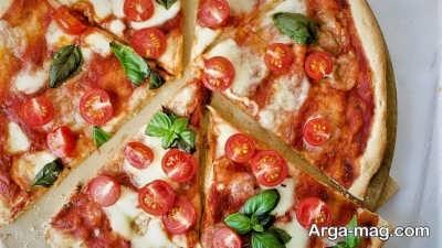 طرز پخت پیتزا گوجه فرنگی
