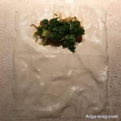 روش تهیه بورک سبزیجات+عکس