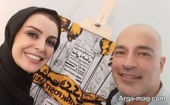 """حضور ماه چهره خلیلی در اکران نمایش """"مثبت فکر کرن"""""""