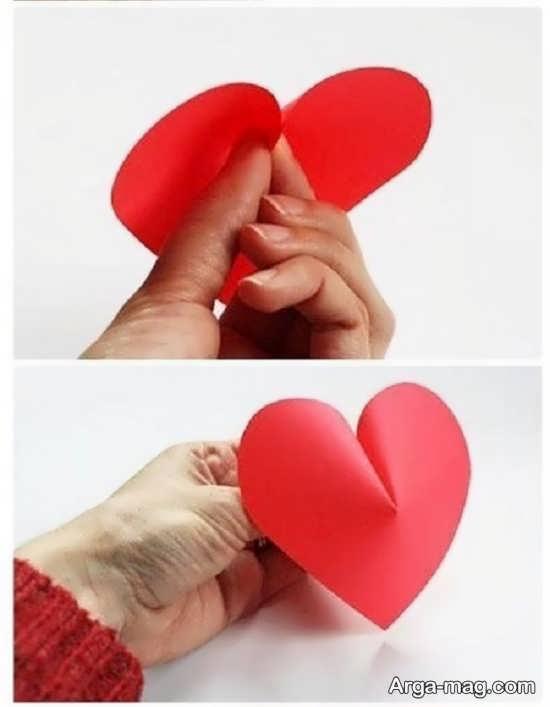 آموزش قلب کاغذی سه بعدی
