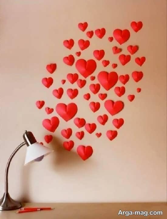 درست کردن قلب کاغذی