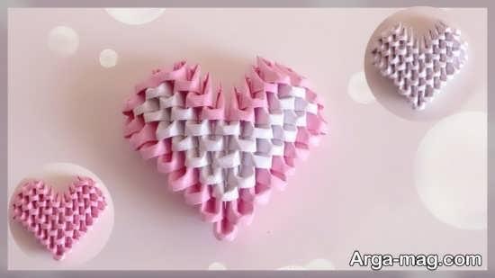 آموزش قلب کاغذی زیبا
