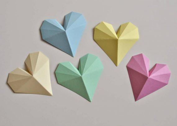 ساخت قلب کاغذی