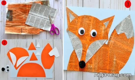 ساخت کاردستی حیوان روباه با ایده های ساده