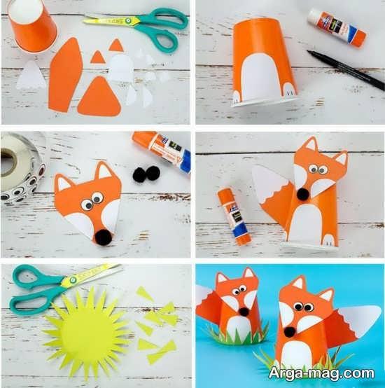 ساخت کاردستی حیوان روباه با ایده های متفاوت