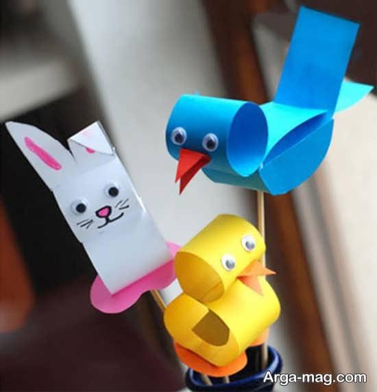 مدل کاردستی های کودکانه ساخته شده با کاغذ و مقوا