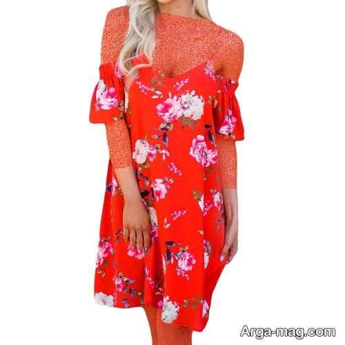 طرح لباس مجلسی گلدار