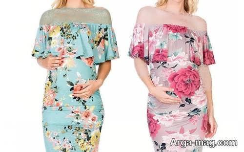 ۵۵ مدل لباس مجلسی بارداری شیک و خاص با طراحی جدید
