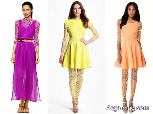 مدل لباس مجلسی رنگ روشن در انواع طرح های شیک بلند و کوتاه