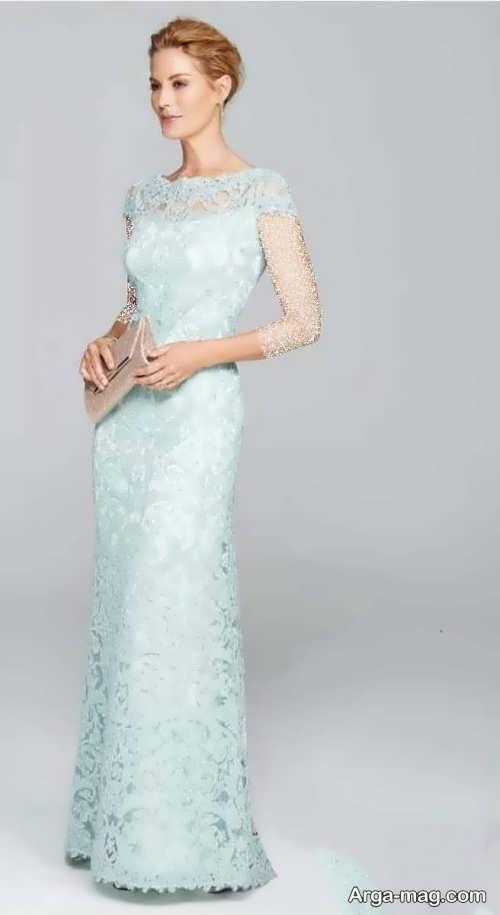 لباس مجلسی بلند و رنگ روشن