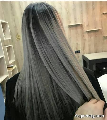 رنگ مو زیتونی خاکستری