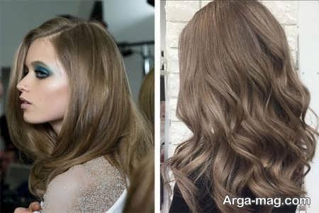 رنگ موی زیتونی روشن یا مشهای زیتونی