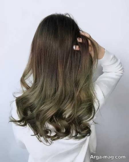 رنگ موی زیبا و شیک زیتونی