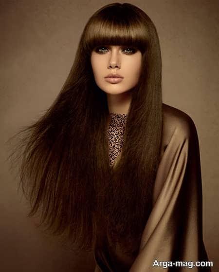 رنگ موی دخترانه زیتونی
