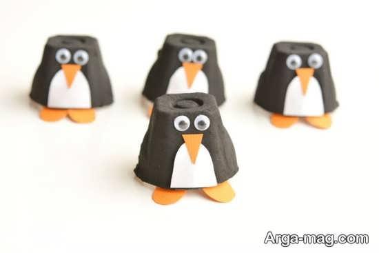 کاردستی دیدنی به شکل پنگوئن