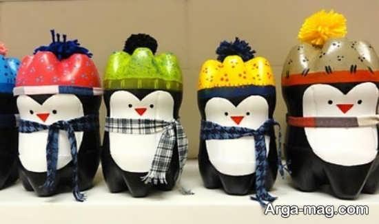 کاردستی خلاقانه به شکل پنگوئن