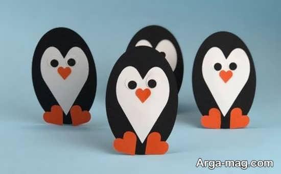کاردستی بامزه به شکل پنگوئن