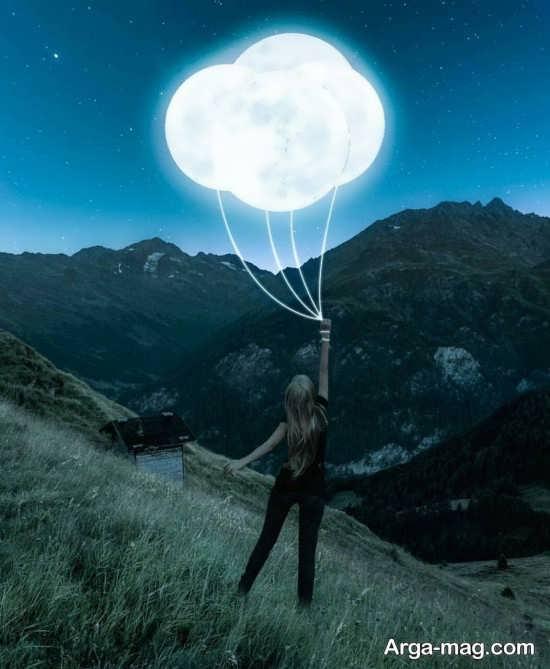 عکس خاصی و جالبی از ماه