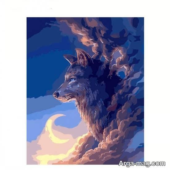 تصویر گرگ و ماه برای پروفایل