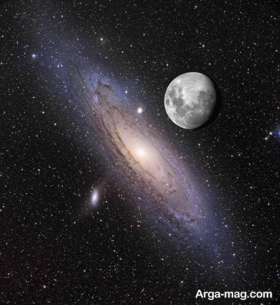 تصویر ماه و آسمان