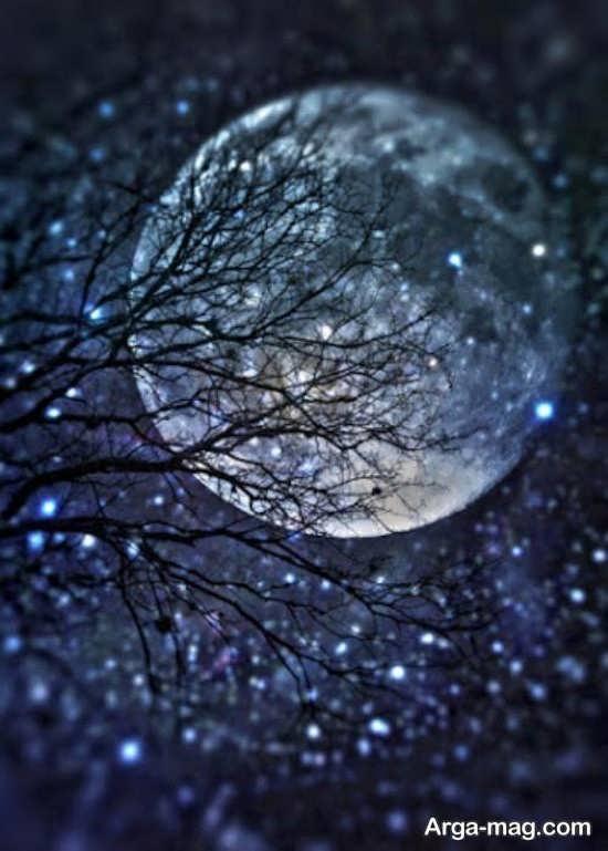 درخشندگی زیبای ماه برای پروفایل